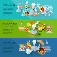 Bannière Pizza Maker vecteur