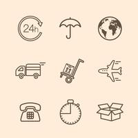 icônes de livraison vecteur