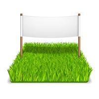 signe d'herbe verte vecteur