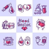 Concept de conception des donateurs vecteur