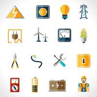 Électricité Icons Set vecteur