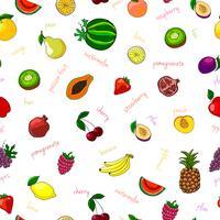Modèle sans couture de fruits frais