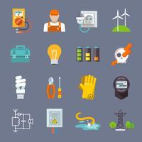 Électricité Icon Flat