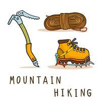 randonnée en montagne vecteur