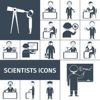 Icônes scientifiques noir vecteur
