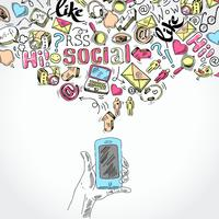 Applications de médias sociaux pour smartphones mobiles