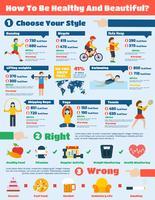 Set d'infographie fitness vecteur