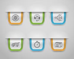 icône logistique vecteur