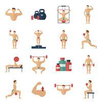 jeu d'icônes de musculation