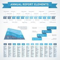 Graphiques de présentation pour la finance vecteur