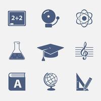 Éléments d'interface pour le site Web de l'éducation vecteur