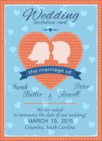 Carte d'invitation de mariage vecteur
