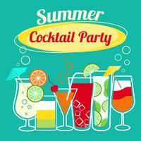 Modèle de soirée de cocktails d'été