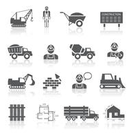 Collection de pictogrammes de construction