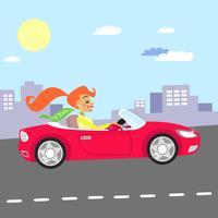 fille en voiture
