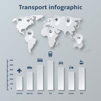 Éléments d'infographie de papier de transport
