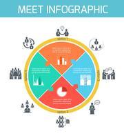 Infographie de réunion d'affaires