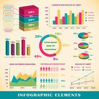 Ensemble d'éléments infographiques vecteur
