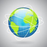 Icône globe terrestre