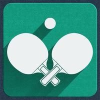icône de tennis de table vecteur