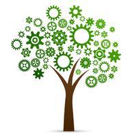 Arbre du concept d'innovation industrielle vecteur