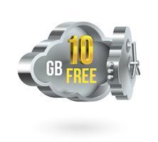 Bannière de promotion du stockage en nuage gratuit vecteur