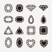 icônes de diamant