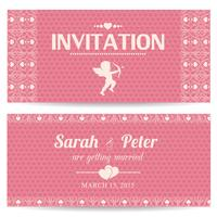 Carte d'invitation romantique Saint Valentin