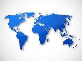 Carte du monde isolé vecteur