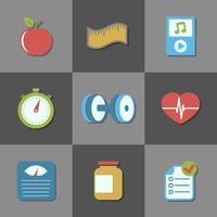 Éléments d'interface pour le site de fitness