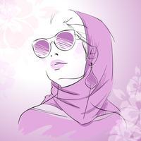 Mode portrait de femme magnifique vecteur