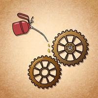 Symbole d'engrenages qui tourne doucement vecteur