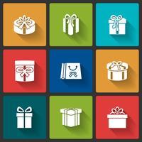 Icônes de boîtes-cadeaux