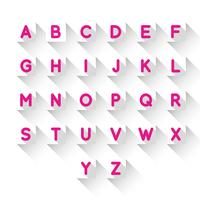Lettres alphabet vecteur