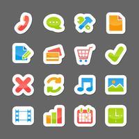 Eléments d'interface de mise en page de commerce électronique vecteur