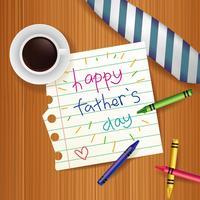 Illustration de la fête des pères heureuse