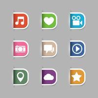 Collection de pictogrammes de médias sociaux vecteur