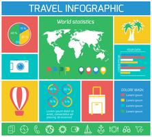 Éléments d'infographie de voyage de vacances vecteur