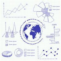 Collection de cartes infographiques vecteur