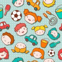 Fond d'enfants sans soudure doodle