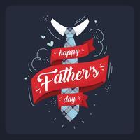 Illustration de la fête des pères heureuse vecteur