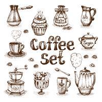 Service à café vecteur