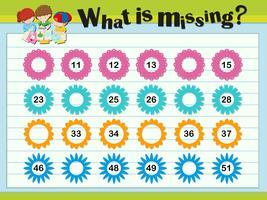 Modèles de jeu avec numéros manquants vecteur
