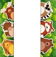 Modèle de bannière avec des animaux marrants