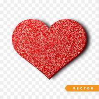 Coeur rouge scintille