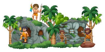 Famille Cave vecteur