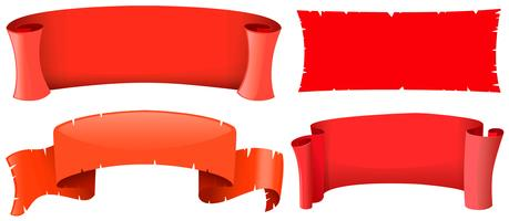 Modèles de bannière en quatre modèles