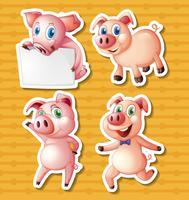 Les cochons vecteur