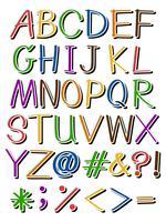 Lettres de différentes couleurs