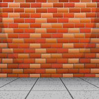 Design de fond avec mur de briques vecteur